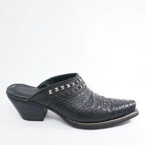 Ariat Womens Studded Croc Embossed Mule Clogs 8.5B